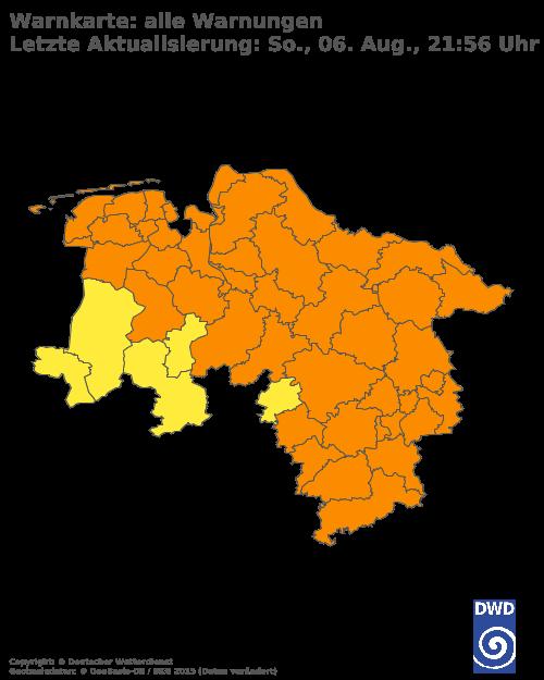 Aktuelle Wetterwarnungen für Hochsauerlandkreis